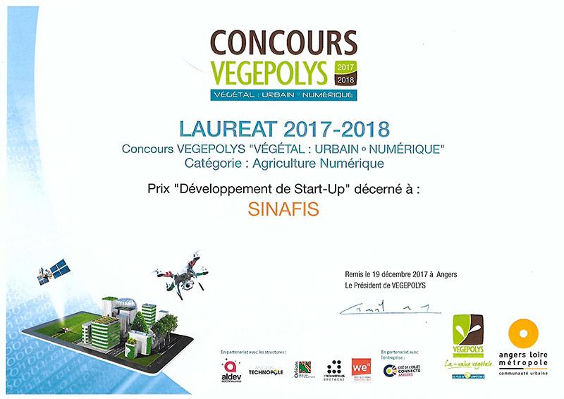 Prix Vegepolys 2018 par Sinafis